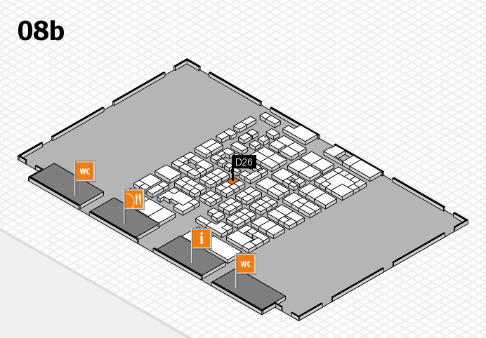 Energy Storage Europe 2017 hall map (Hall 8b): stand D26