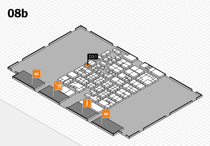 Energy Storage Europe 2017 hall map (Hall 8b): stand D31