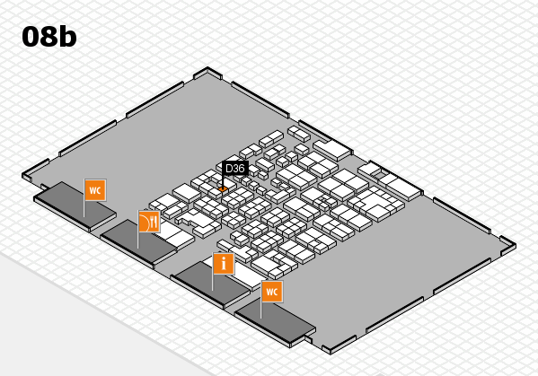 Energy Storage Europe 2017 hall map (Hall 8b): stand D36