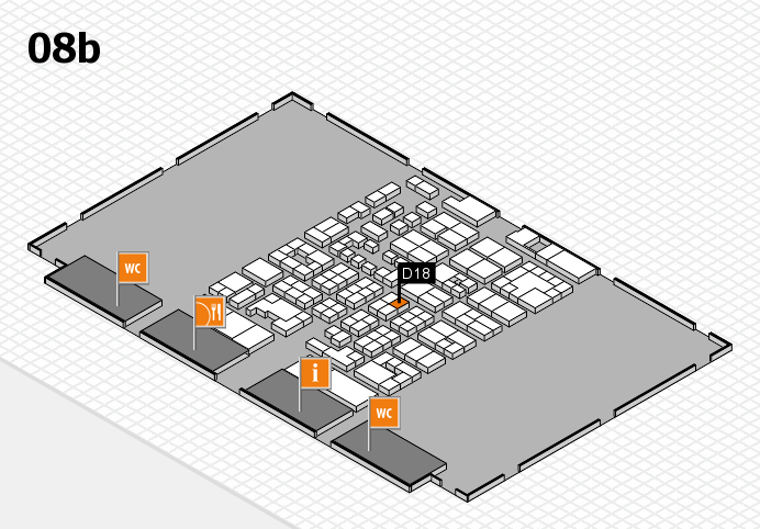 Energy Storage Europe 2017 hall map (Hall 8b): stand D18