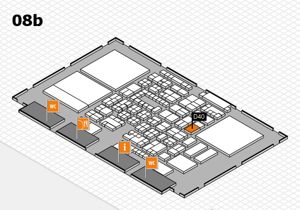 Energy Storage Europe 2018 hall map (Hall 8b): stand D40