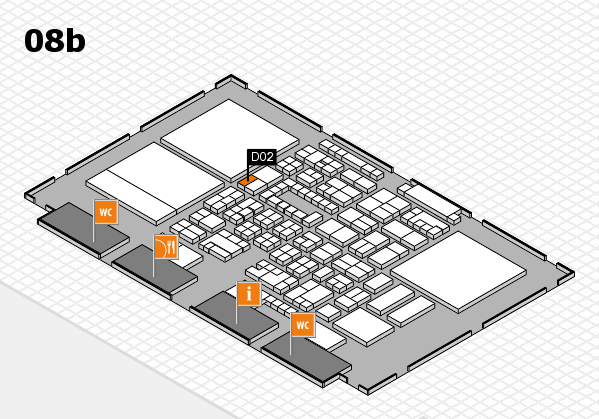 Energy Storage Europe 2018 hall map (Hall 8b): stand D02