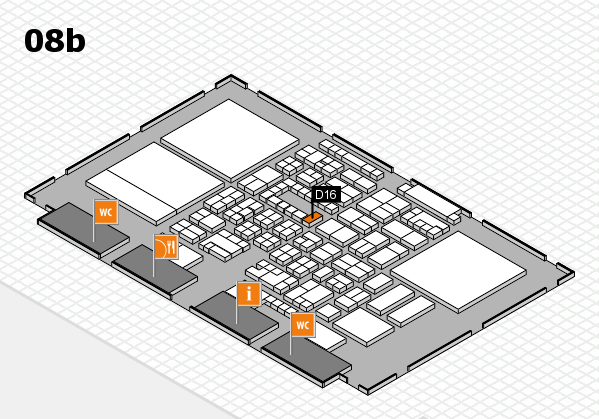 Energy Storage Europe 2018 hall map (Hall 8b): stand D16