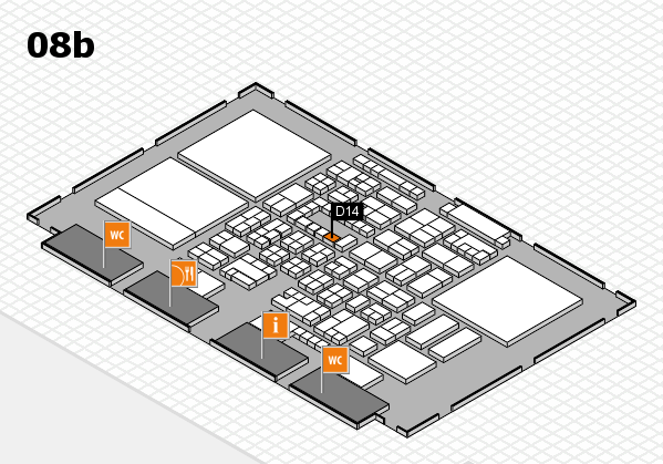 Energy Storage Europe 2018 hall map (Hall 8b): stand D14